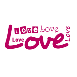 Stickers kit Love