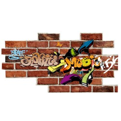 Sticker mur de graffitis