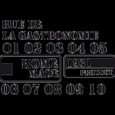 Stickers meubles : Rue de la gastronomie