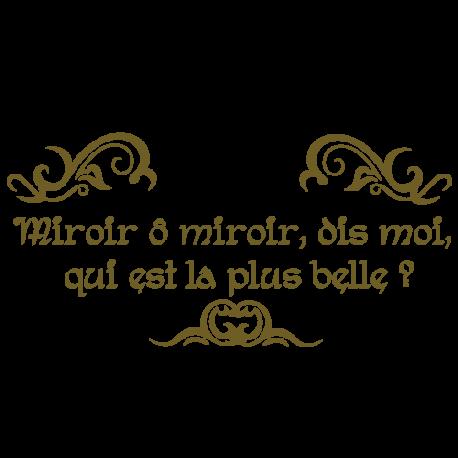 Stickers pour miroir salle de bain avec textes par d cor c bo for O miroir la rochelle