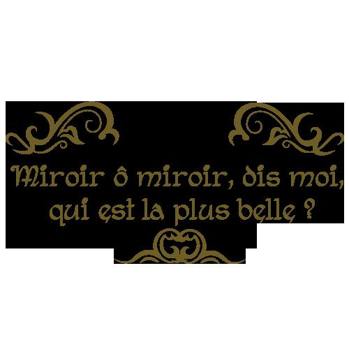 Stickers pour miroir salle de bain avec textes par Décorécébo