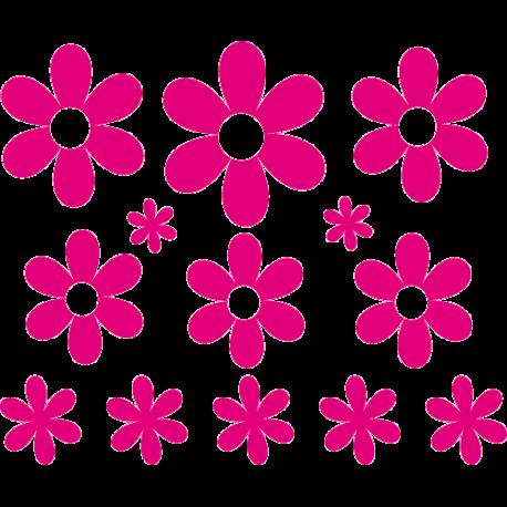 Kit de stickers fleur