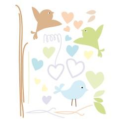 Stickers oiseaux gazouillis