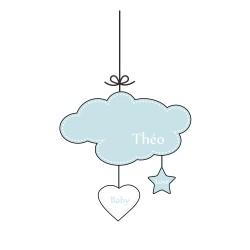 Sticker mobile nuage bébé