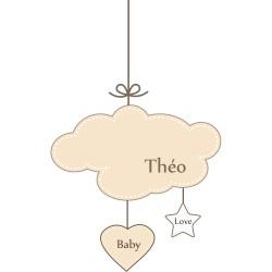 Sticker bébé mobile mixte à personnaliser