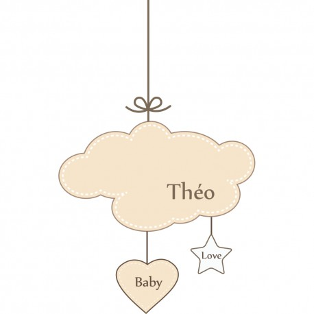 Stickers mobiles taupe