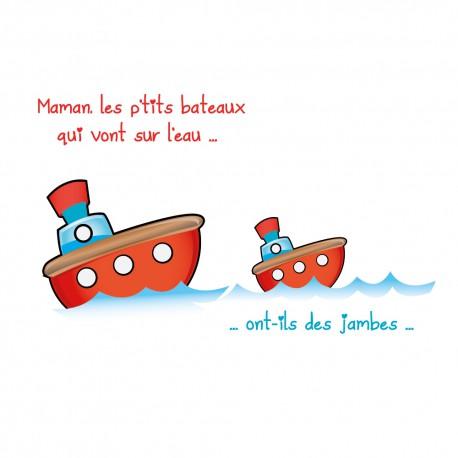 Sticker maman les petits bateaux