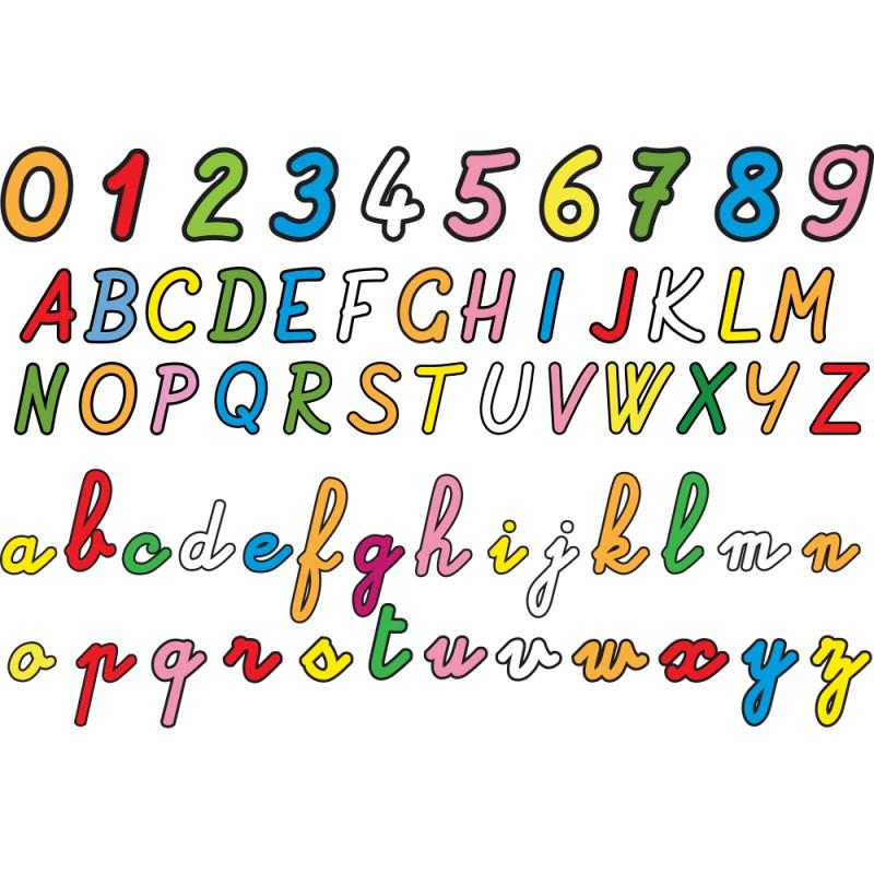 stickers alphabet et chiffres pour apprendre d co enfants. Black Bedroom Furniture Sets. Home Design Ideas