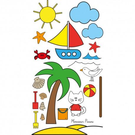 Sticker enfant : kit XXL J'apprends les couleurs