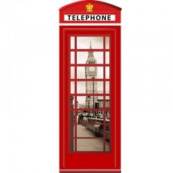 Sticker cabine téléphone Londres