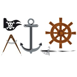 Stickers Kit Pirates en couleur