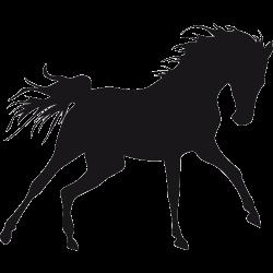 Stiker de cheval