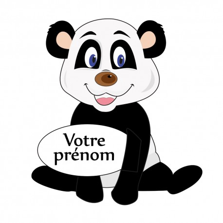 Sticker panda avec prénom