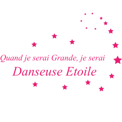 Sticker Danseuse : Quand je serai grand