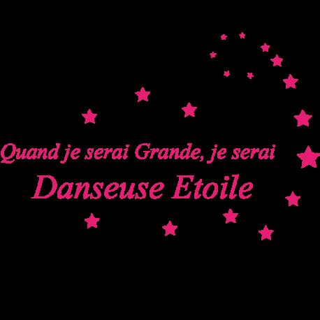 Sticker danseuse étoile textes