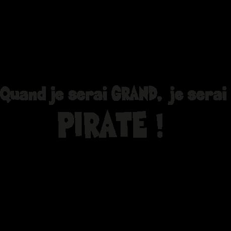 Sticker quand je serais grand pirate