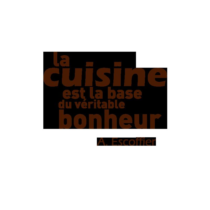 Sticker mural de cuisine d coration avec citation de for Stickers texte cuisine