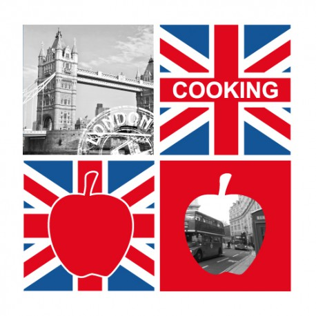 Stickers cuisine Pomme Londres