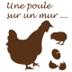 Sticker cuisine - Stickers kit poule