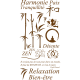 Kit de stickers GEANT déco Zen