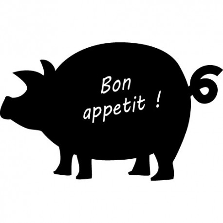 Sticker ardoise - Sticker Cochon