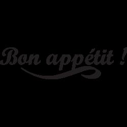 Sticker bon appétit texte