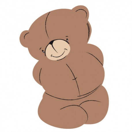 Sticker Teddy Bear