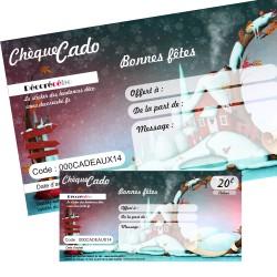 Chèque cado Noel Paysage : de 20 à 200 €