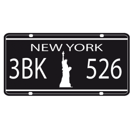 sticker plaque immatriculation new york. Black Bedroom Furniture Sets. Home Design Ideas