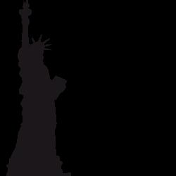 Sticker texte NYC et statue de la libert'