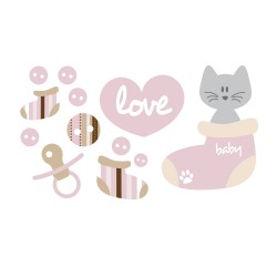 Stickers chatons bébé