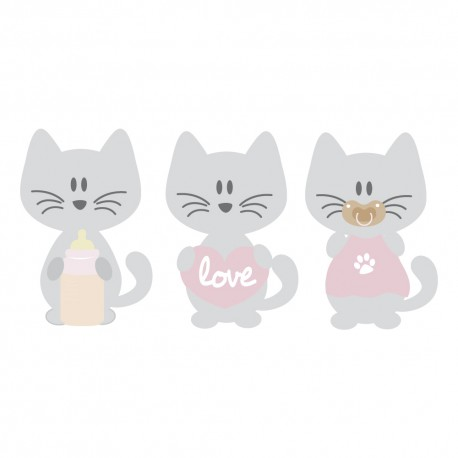 Stickers trois petits chats