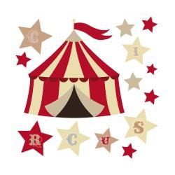 Stickers chapiteau cirque et étoiles