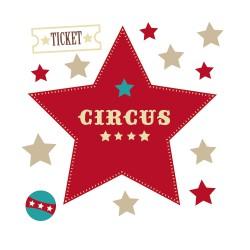 Stickers Etoiles Circus
