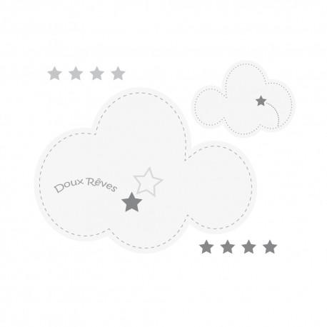 Stickers nuages et étoiles