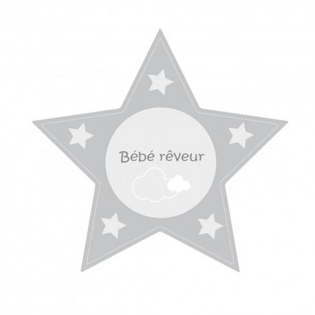 Stickers grande étoile bébé