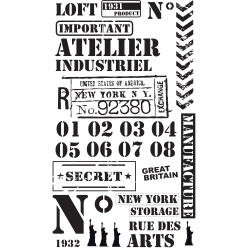 stickers industriel et loft d co industrielle style atelier meubles et murs ambiance live. Black Bedroom Furniture Sets. Home Design Ideas