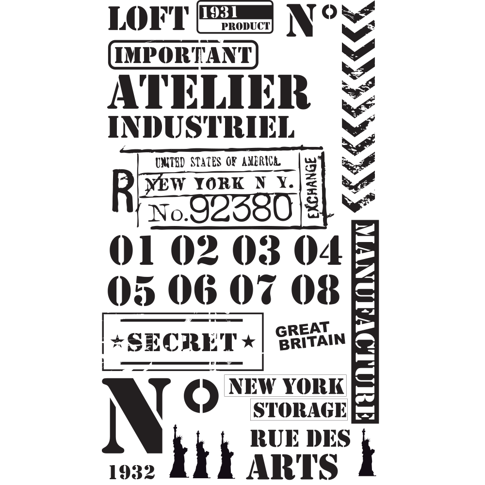 sticker geant new york gallery of giant colouring paper. Black Bedroom Furniture Sets. Home Design Ideas