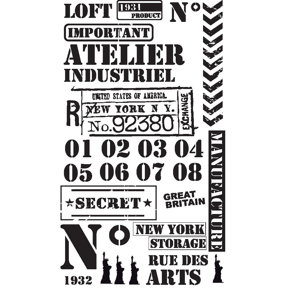 Stickers Decoratifs Pour Meubles Bois Adhesif Industriel Et Retro