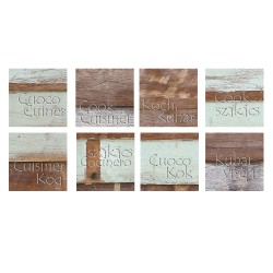 Stickers adhésifs carreaux bois usé cuisine
