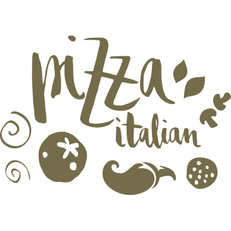 Stickers pizza et ingrédients
