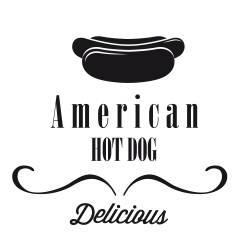 Stickers Hot Dog americain