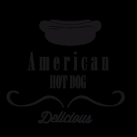 Sticker hot dog américain