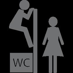 Stickers toilettes Voyeur