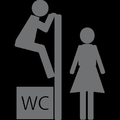 Sticker toilettes porte drole