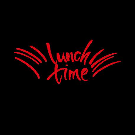 Sticker texte lunch time pour cuisine