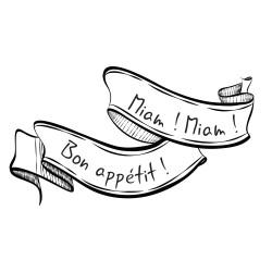 Stickers cuisine miam et bon appétit