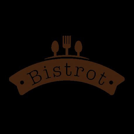 stickers cuisine bistrot enseigne avec couteau fourchette et cuill re. Black Bedroom Furniture Sets. Home Design Ideas