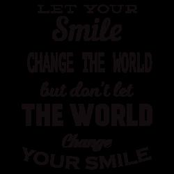 Stickers texte anglais Smile