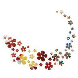 Sticker art Envol'e de fleurs